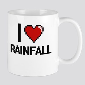 I Love Rainfall Digital Design Mugs