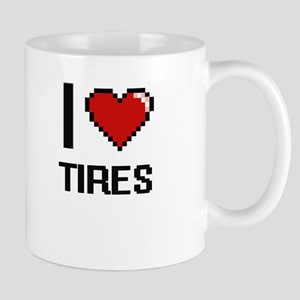 I love Tires digital design Mugs