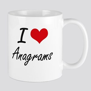 I Love Anagrams Artistic Design Mugs