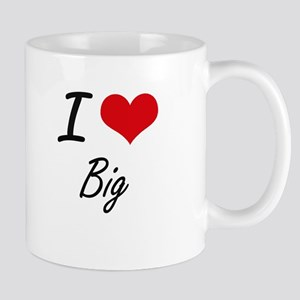 I Love Big Artistic Design Mugs