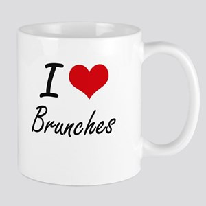 I Love Brunches Artistic Design Mugs