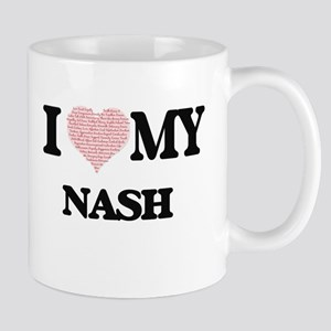 I Love my Nash (Heart Made from Love my words Mugs