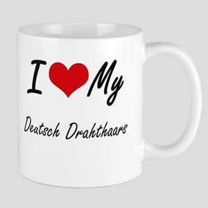 I Love My Deutsch Drahthaars Mugs