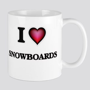 I love Snowboards Mugs