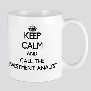 Keep calm and call the Investment Analyst Mugs