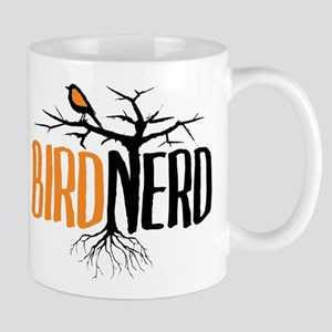 Bird Nerd (Black and Orange) Mug