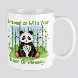 PERSONALIZED Panda With Bamboo Mugs