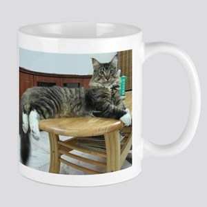 maine coon laying 2 11 oz Ceramic Mug