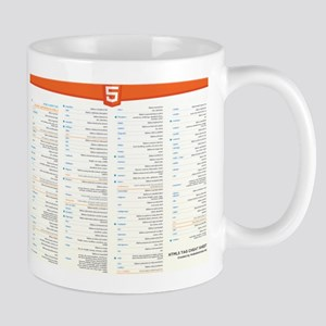 HTML5 Cheat Sheet Mugs