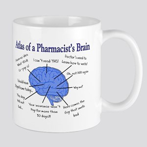 Atlas of a Pharmacists Brain Mugs
