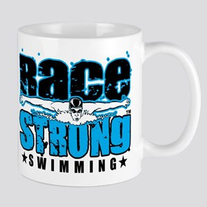 Race Strong, Play Strong Swimming Mug