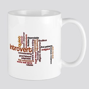 Introvert Strengths Word Cloud 1 Mug