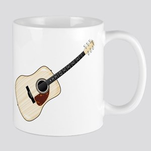 Pale Acoustic Guitar Mugs