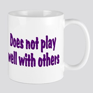 does not play well with others purple Mugs