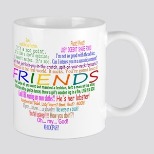 FriendsTVQuotesHeart Mugs