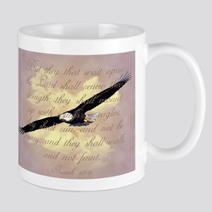 Wings as Eagles Bible Verse Mug