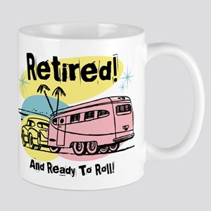 Retro Trailer Retired Mug