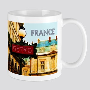 pARIS mETRO tRAVEL fRANCE Mugs
