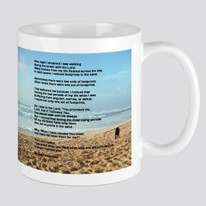 Footprints in the Sand Mugs