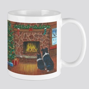 Santa Watch Border Collies Mug