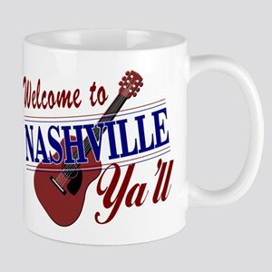 Welcome to Nashville Ya'll-01 Mugs