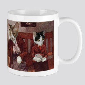 Cats on a Bench Mug