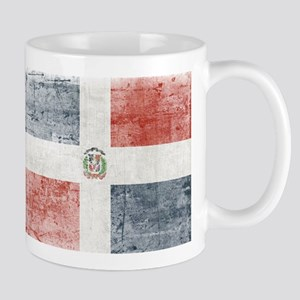 Dominican Republic Distressed Flag Mugs