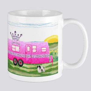 camper travel trailer camping queen Mug