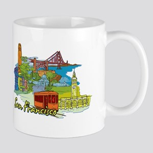 San Francisco Travel Poster Mugs
