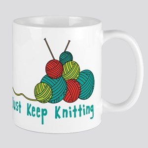 Just Keep Knitting Mugs