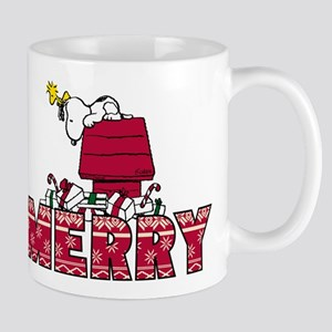 Snoopy Merry 11 oz Ceramic Mug