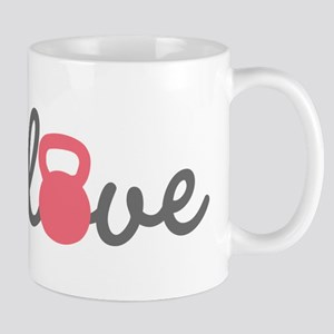 Love Kettlebell in Pink Mug