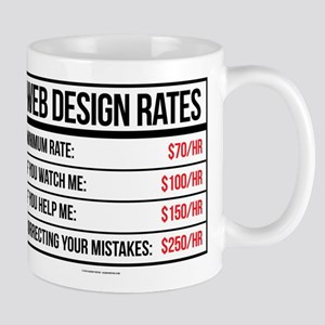 Web Design Rates Mugs