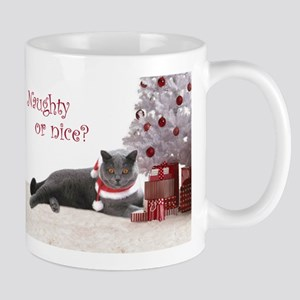 Cat Under Christmas Tree Mug