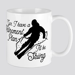 Skiing Retirement Plan 11 oz Ceramic Mug