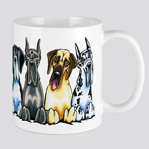 4 Great Danes Mugs
