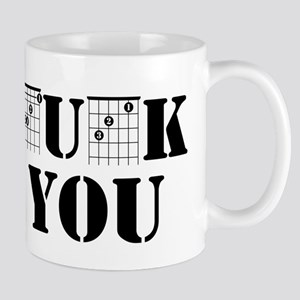 f chord uck you guitar tabs music funny guita Mugs