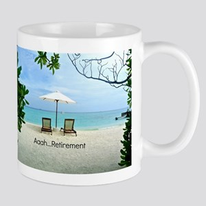 Aaah...Retirement, tropical beach scene 11 oz Cera