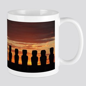 Easter Island Moai at Sunrise Mugs
