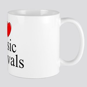 """I Love (Heart) Music Festivals "" Mug"