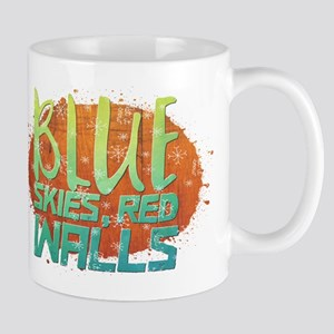 Blue skies, Red Walls Mugs