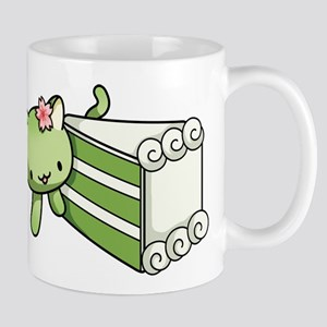Gateau Matcha Kitty Mugs
