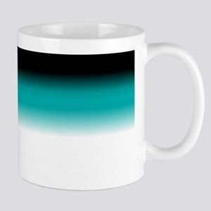 Teal White Black Ombre Mugs