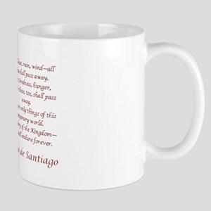 Camino Poem Red with Cross Mug