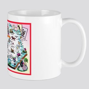 Kentucky Map Greetings Mug