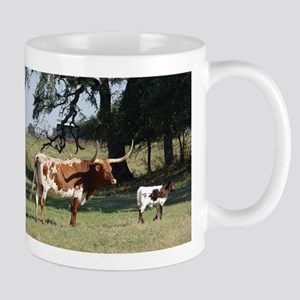 Longhorn Cow and Calf Mugs