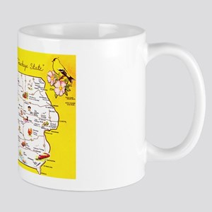 Iowa Map Greetings Mug