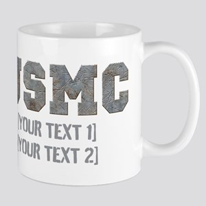Custom Text Rusty USMC Mug
