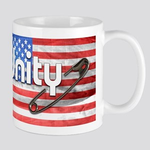 Safety Pin, Unity, American Flag Mugs