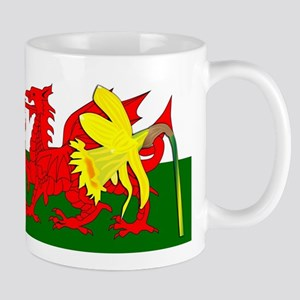 Daffodil Welsh Dragon Flag Mugs